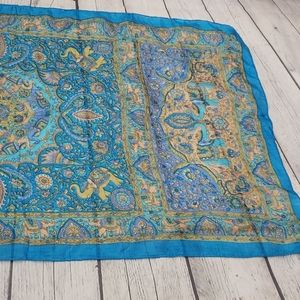 Colorful Boho Elephant Paisley Silk Made in India
